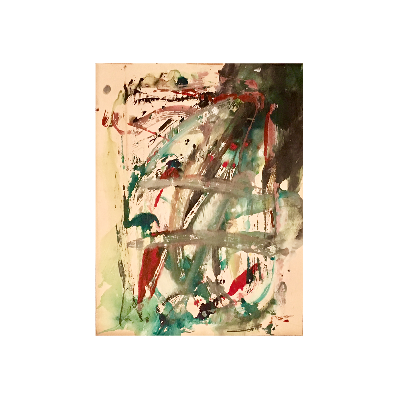 American School Abstract Expressionist signed and dated 1963