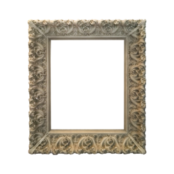Spanish Art Nouveau picture frame in wood and gesso, ca.1880