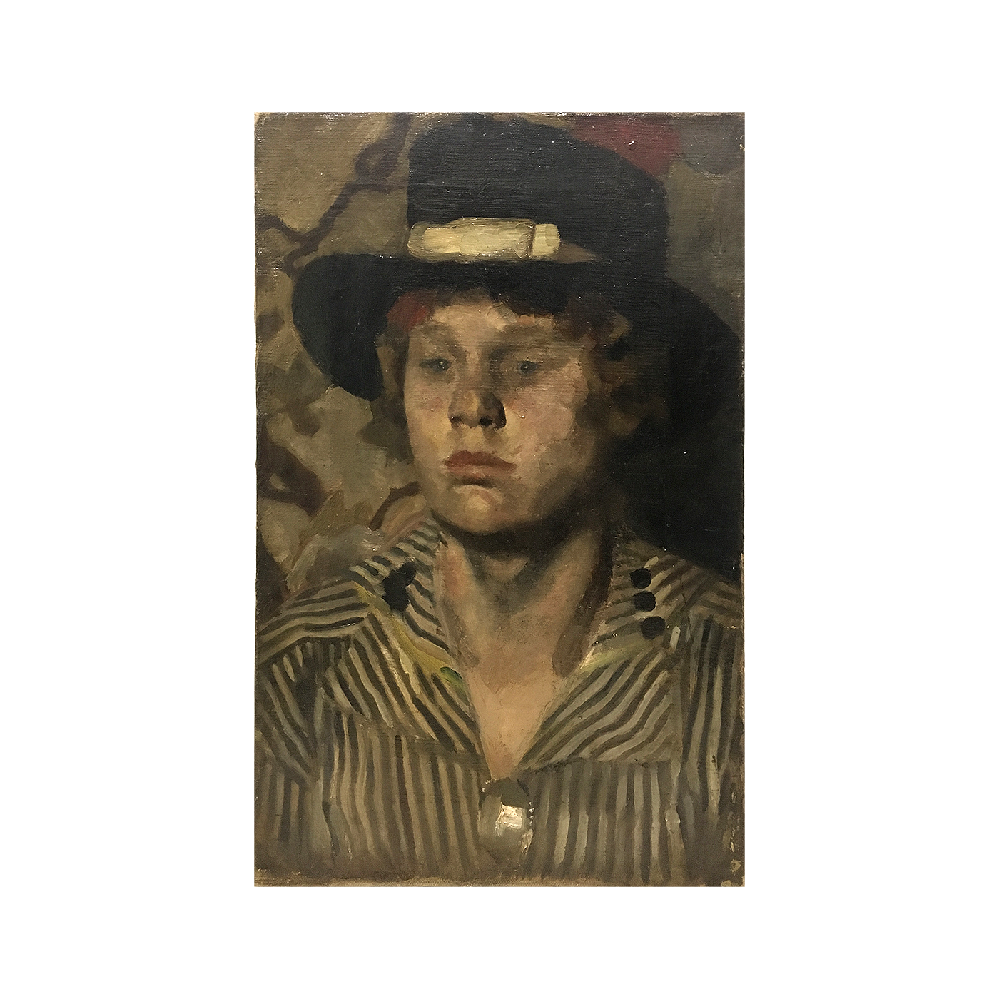 "European school ""Young boy with black hat"", ca.1880."
