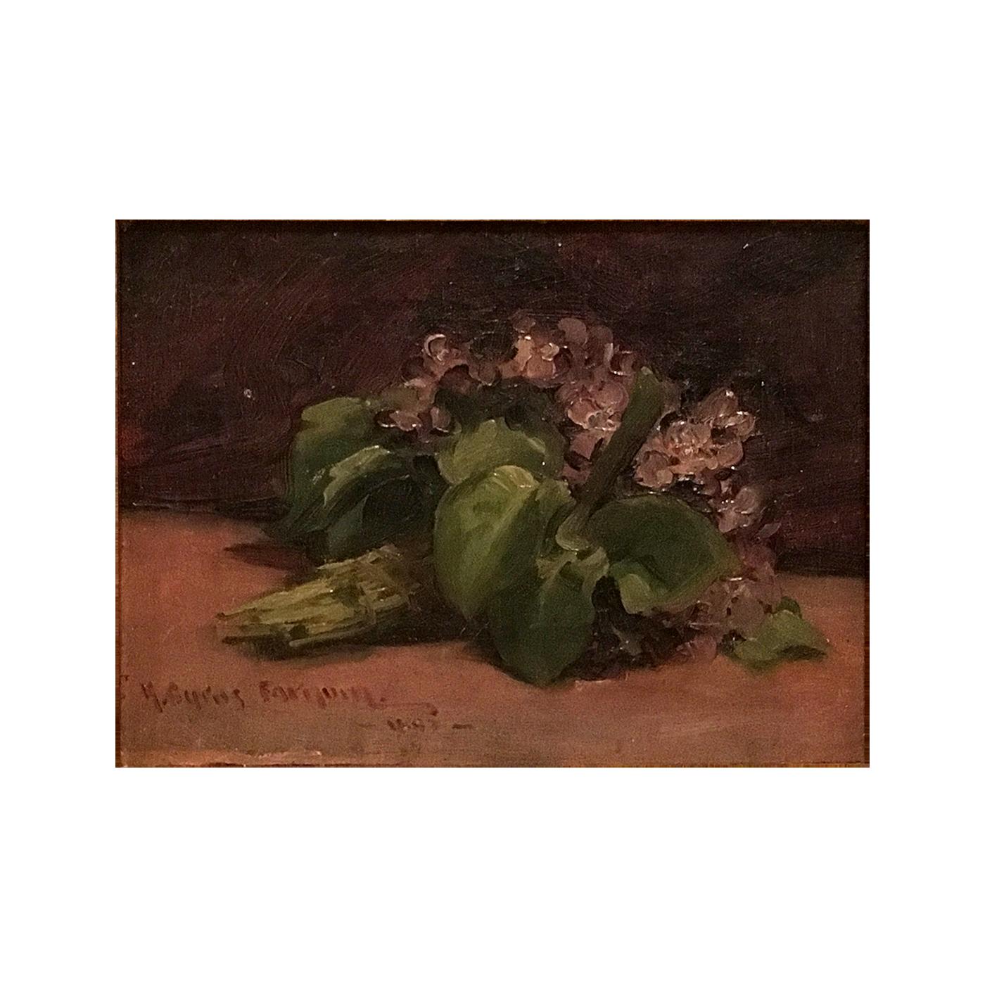 "Herbert Cyrus Farnum [ 1866-1925] American painting ""Flowers"" circa 1894"