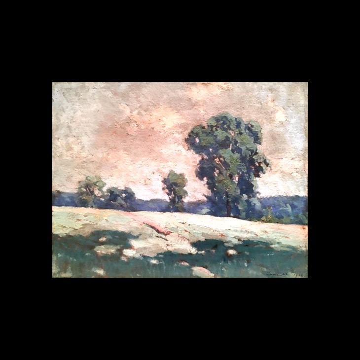 """Donald Deskey [ 1894-1989] American impressionist landscape """"June morning"""", June 25, 1926."""
