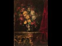 "Luigi Comolli [ 1893-1976] Italian Impressionist painter ""Table-top still life"" circa 1920's"