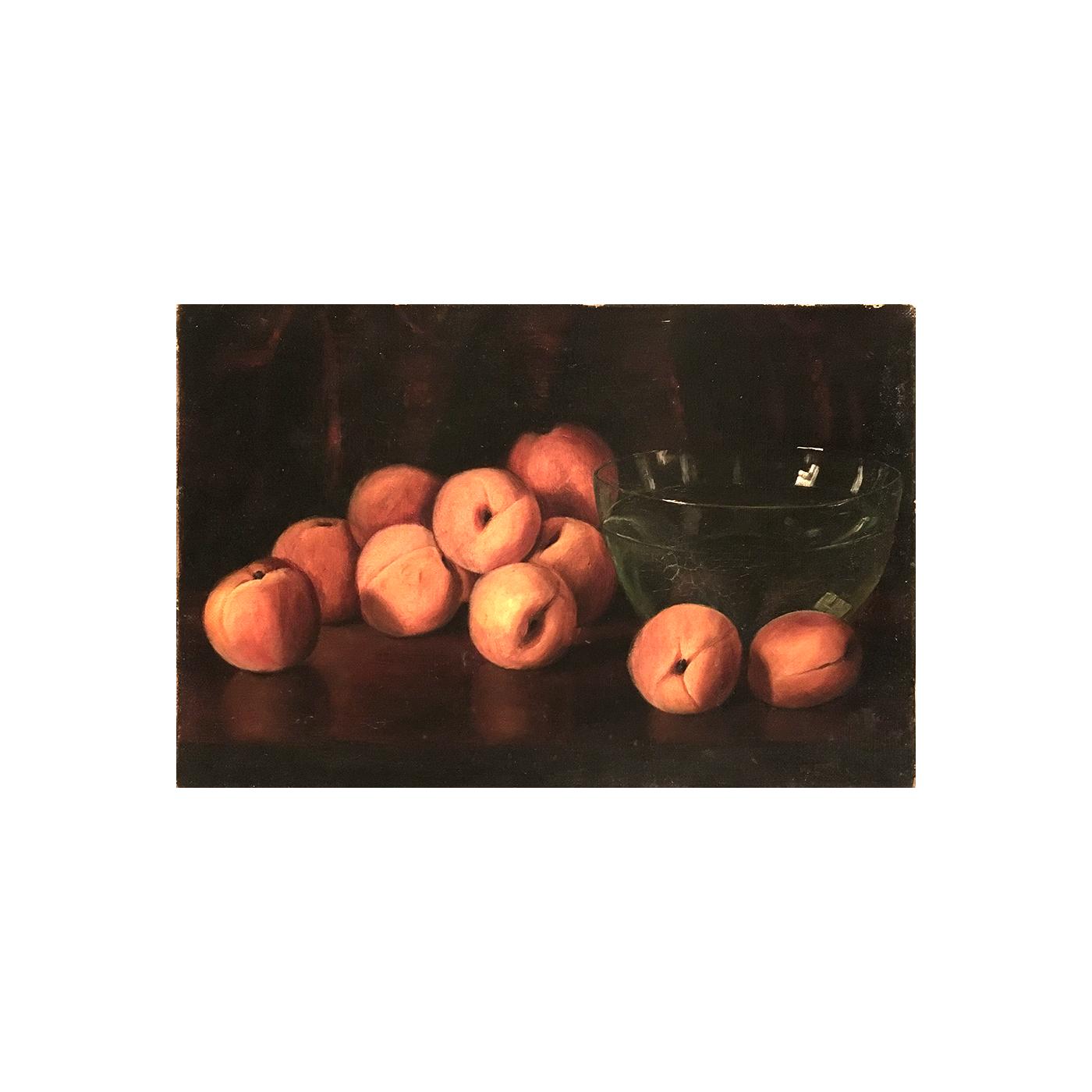 "American School ""Peaches and Bowl""circa 1890"
