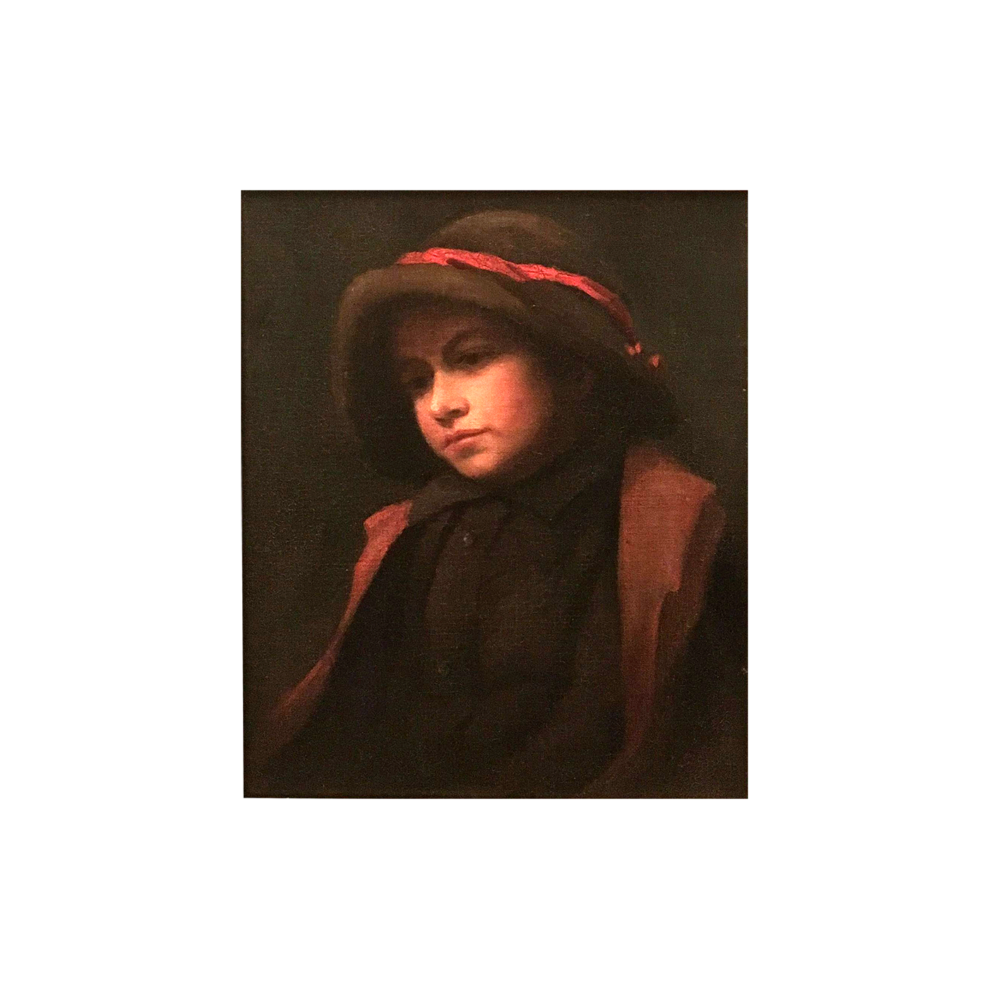 """Charles Sprague Pearce [1851-1914] American painting """"Young boy"""", 1875."""