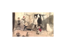 "Paul Gavarni [1804-1866] French Illustrator "" The Performance"" , ca.1840."