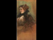 "American school , Impressionist study ""Elegant Woman"" ,ca.1880."