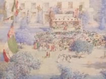 "American school ""International celebration"" ca. 1890"
