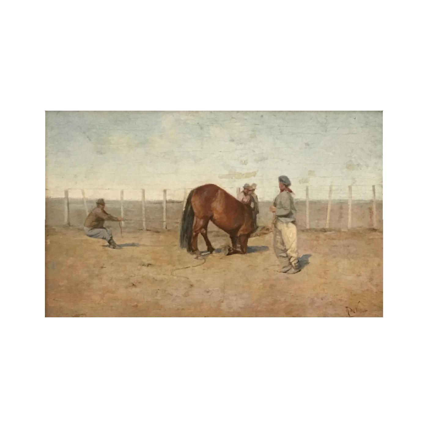 "Rafael Del Villar [1873-1952] Spanish / Argentinian ""Gauchos"", ca.1900."