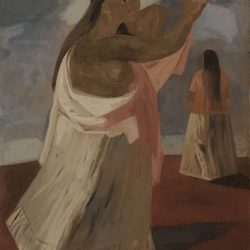 "Jesus Guerrero Galvan [1910-1973] Mexican American religious painting ""Madre"", ca.1950s."