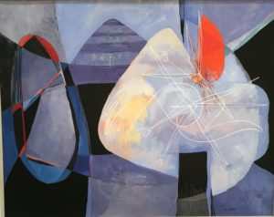 """Chet La More [1908 - 1980] American abstract expressionist painting""""Untitled"""" 1946"""