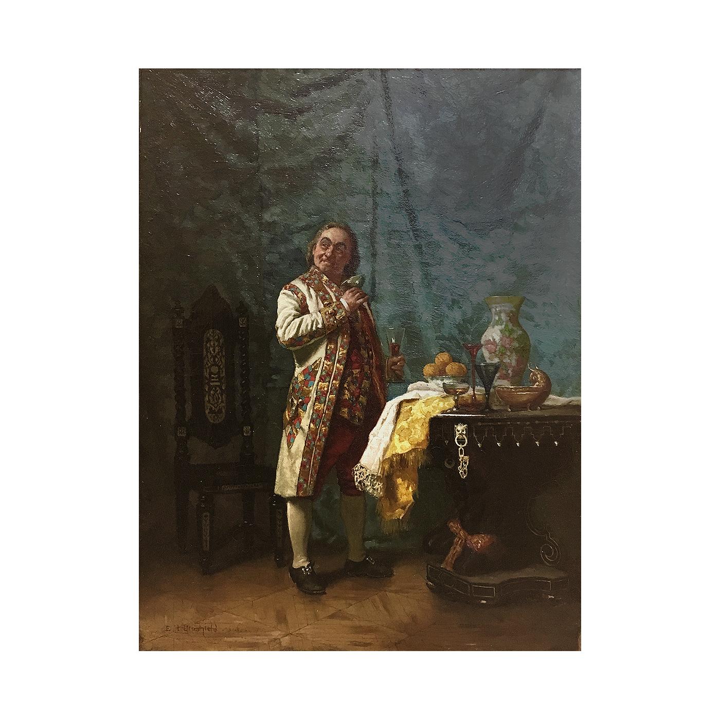 "Edwin Blashfield [1848-1936] American artist ""Draining the glasses"", 1884"