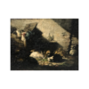 """""""Mother and her chicks"""" and """"Rabbits"""" signed and dated A. B. 1818."""