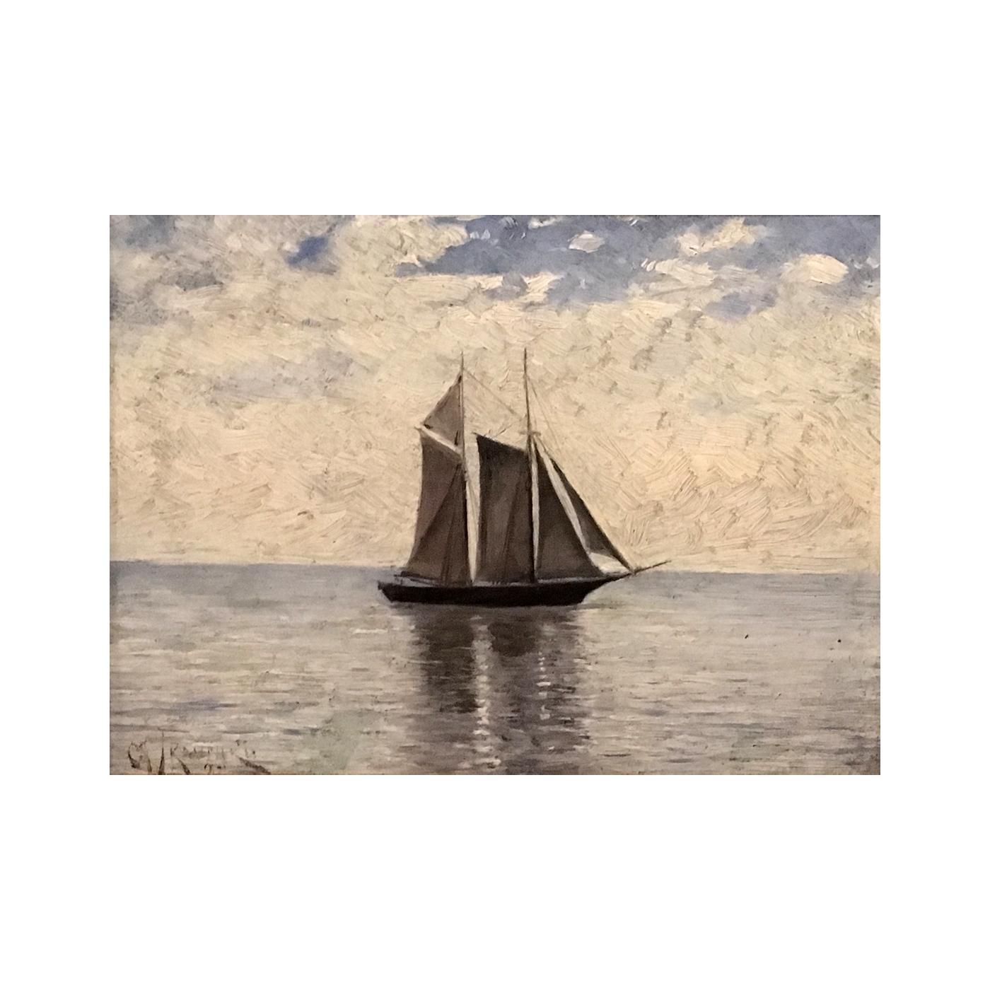 "American School ""Horizon clouds and shadow"", ca.1897"