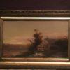 "Max Eglau [1825-1896] American painter ""Sailboats at dusk, Long Island"", ca.1870."