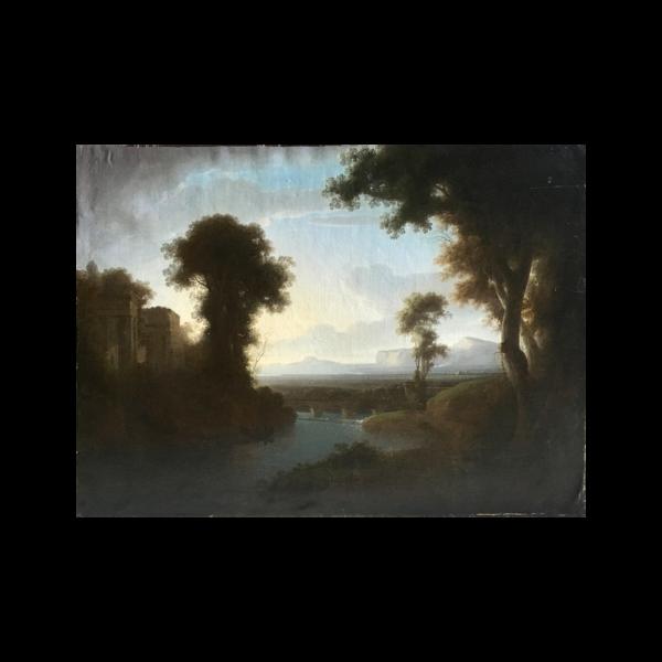"Washington Allston [1779 - 1843] American artist ""Italian Landscape"" ca.1827"