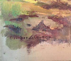 "Georges La Chance [1888 - 1964] American impressionist ""Springtime ,Brown County"" circa 1920's"