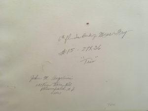 "John Michael Angelini (born 1921) American ""Trio ;Bloomfield, New Jersey"" ca.1960's"