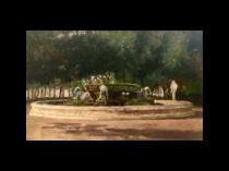 Raffaele Armando Califano Mundo [fl.1857-1930] Italian Fountaina alla Villa Couruiale d'Napoli [Naples Town Hall fountain, Italy], 1886
