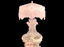 Austrian Art Nouveau pottery lamp Women and grapes, ca.1890.