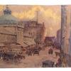 Boston School  watercolor The dome ,Quincy Market, ca.1900.