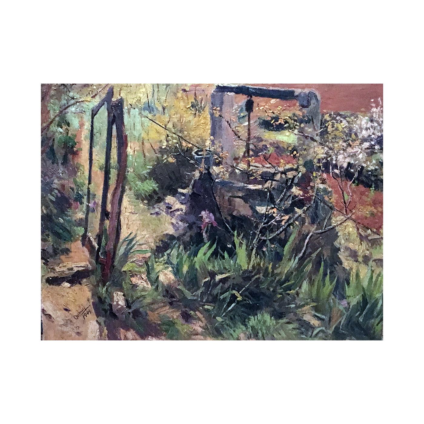 Juan Orihuel [1906-1982] Argentine Artist : The garden well, 1944.