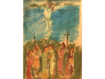 """Russian/American School Modernist """"The crucifixion"""", early 20th-century."""