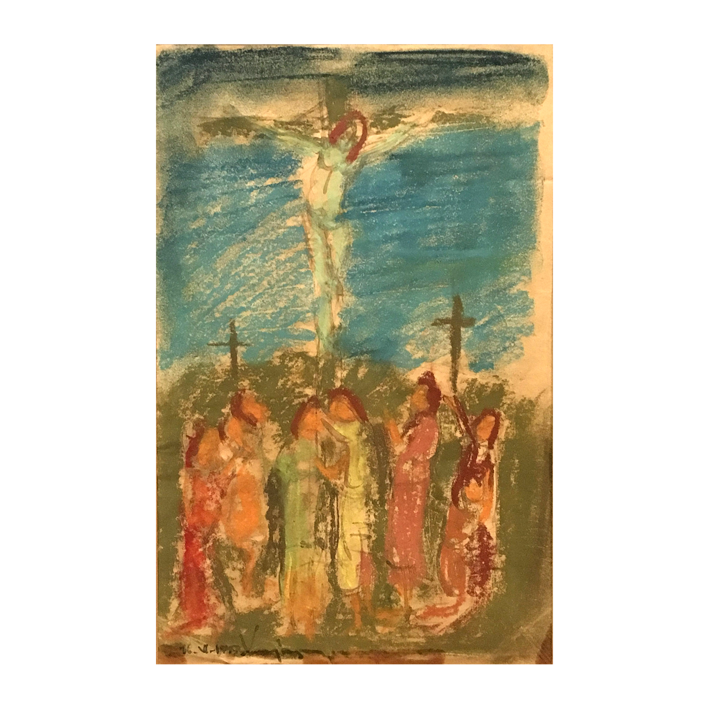 "Russian/American School Modernist ""The crucifixion"", early 20th-century."