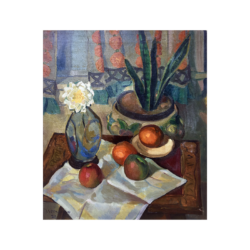 L. S. Pullman [early 20th century] Bloomsbury school : Still life with oranges, 1928.