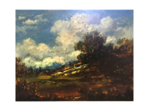 William Ladd Taylor [1854-1926] American Barbizon school : Cloud study, circa 1880.