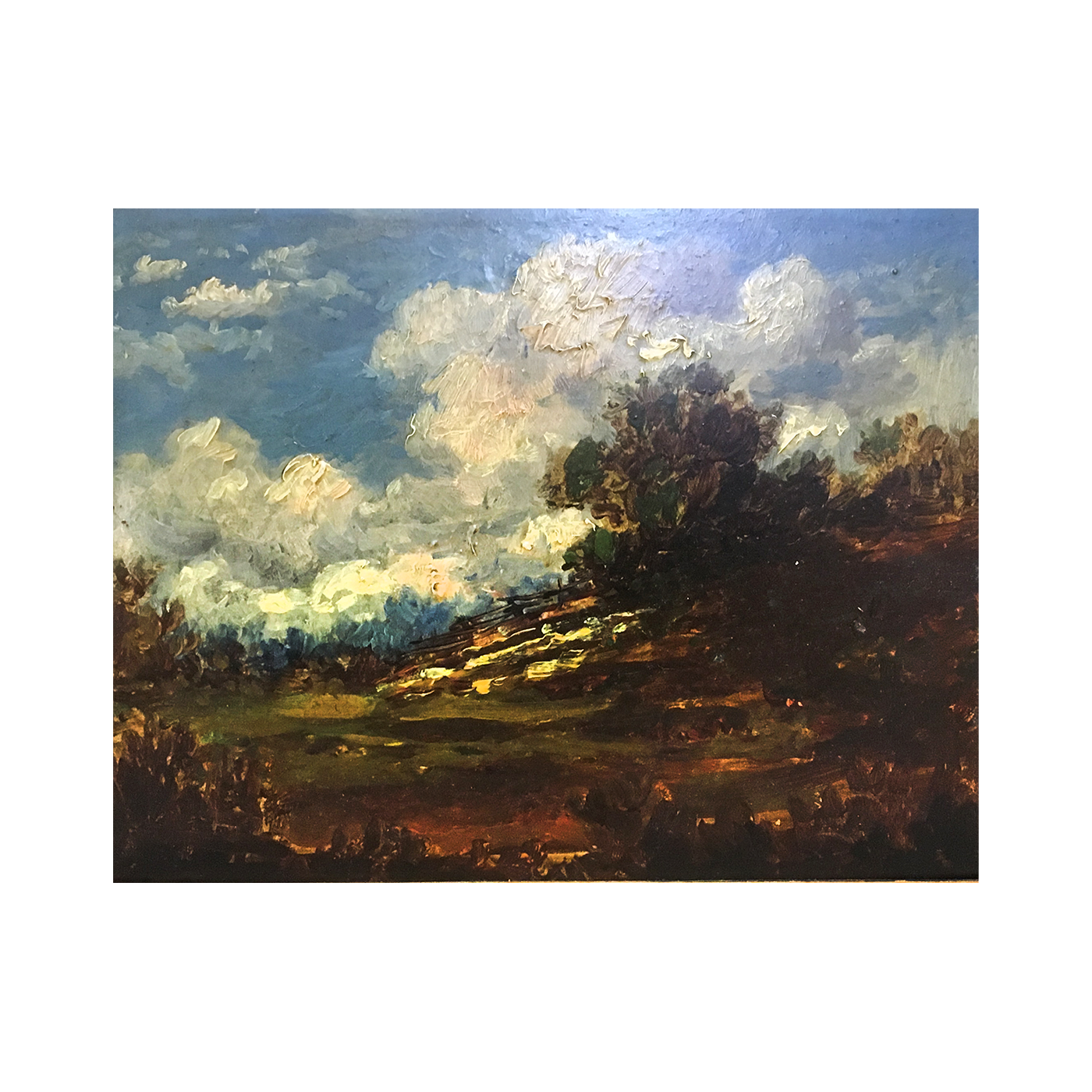 William  Taylor ,American Barbizon school : Cloud study, circa 1880.