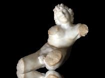Italian school marble sculpture : Male nude torso, circa 1850.