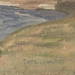 Clifford H. Merritt [1884-1962] Pennsylvania landscape painting : Windham center, PA, ca.1920s.