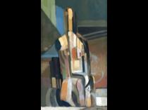 Ralph Gagnon [1919-1996] Machine Age modernist abstract : Female nude, Boston, 1958.