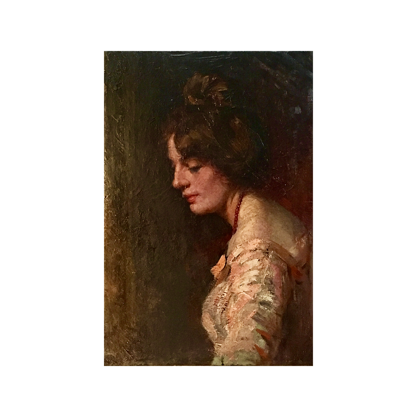 High Victorian painting : Portrait of a young woman, 1888.