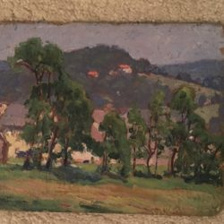 Ernest Nathaniel Townsend [1893-1945] landscape painting : The farm house, ca.1930s.