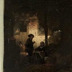 Adrien Ferdinand De Braekeleer [1818-1904] German genre painting : The conversation, 1870.
