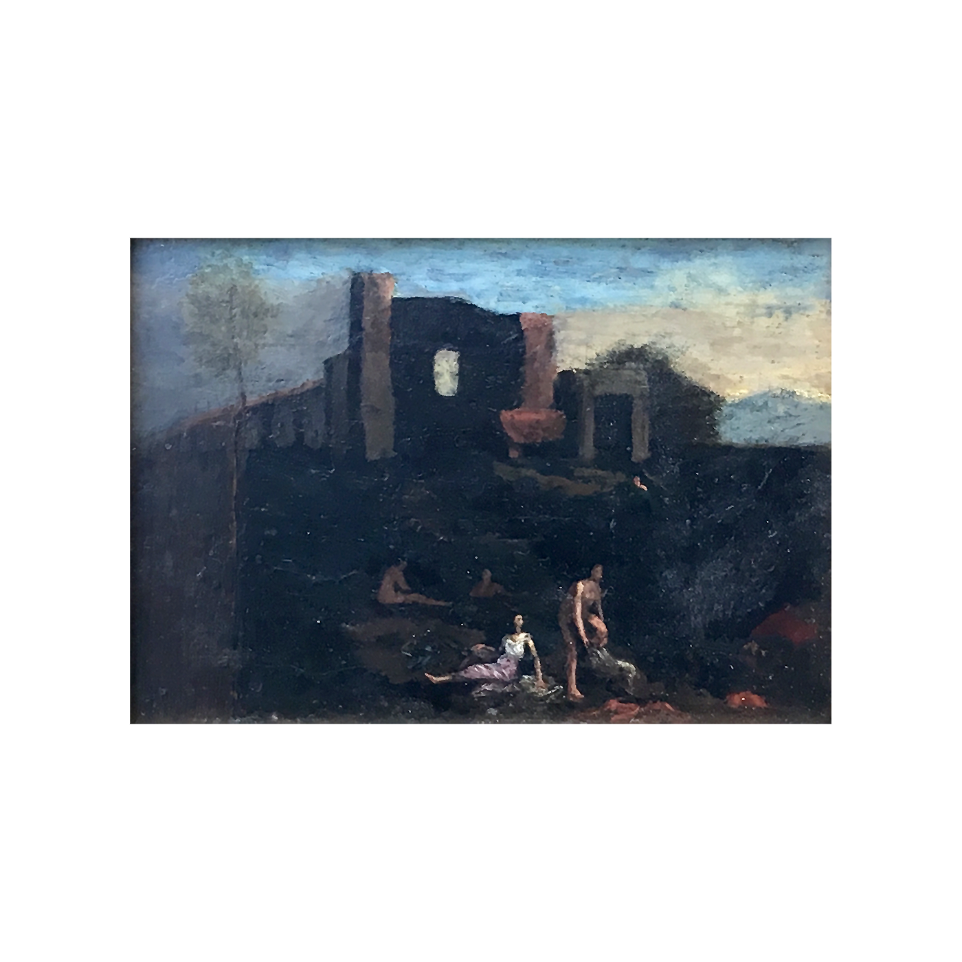 Cornelis Van Poelenburgh [1586-1667] : Nudes at the ruins, ca.1660s.