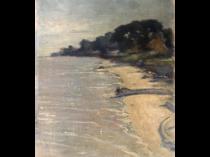 American school impressionist : Beach scene, ca.1910-20.