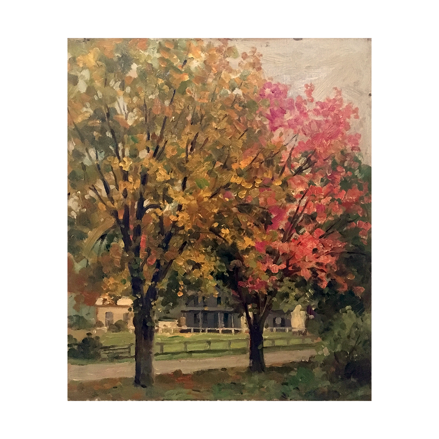 American school landscape painting : Fall landscape, 20th-century.