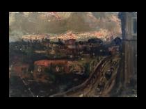 Italian Impressionist painting : Impressione—Vare ecluo [Impressionism—they swear], 1934