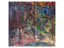 Larry Zox [1937-2006] neo-post-impressionist landscape : Forest interior, 1985.
