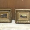 American western painting : Pair of miniature landscapes, ca.1860s.