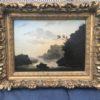 German-American Romantic painting : Fishing at sunset, 1853.