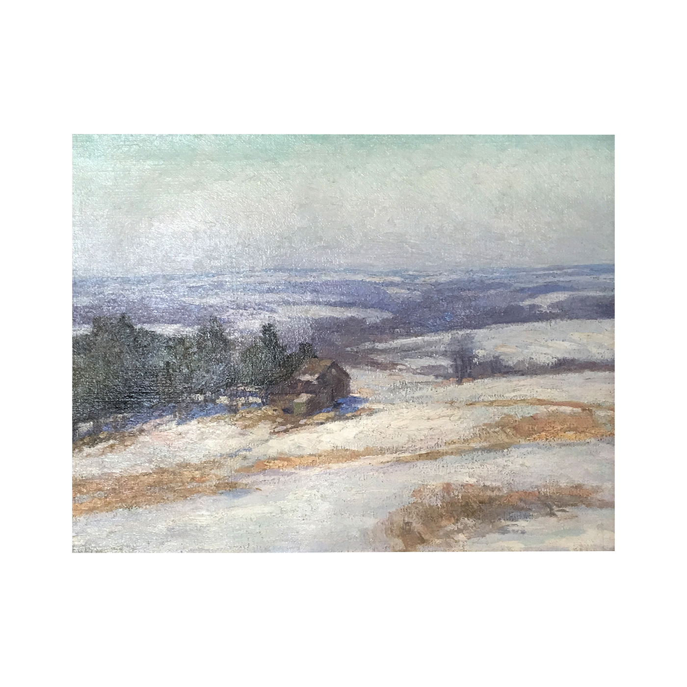 William F Matthews [1878 - 1966] American landscape : Snowscape, ca.1930s