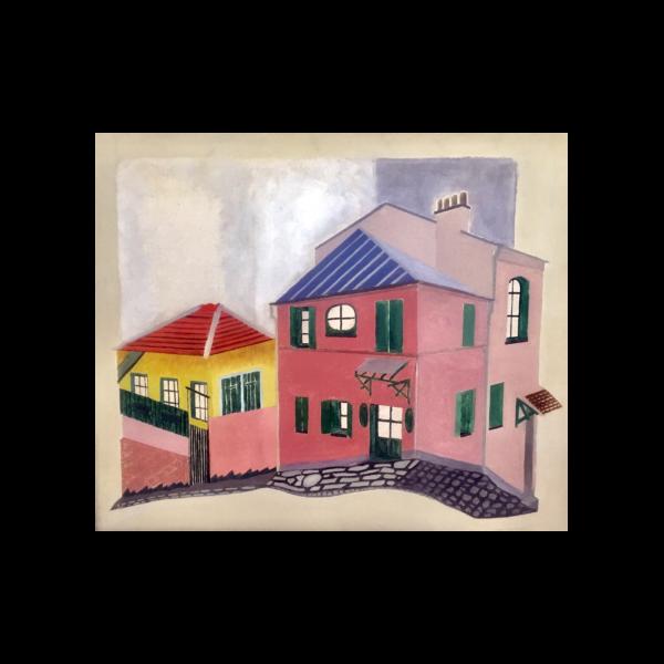 "De Hirsch Margules [1889-1965] American/Romania modernist "" Townscape"" circa 1920"