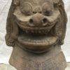 East Asian guardian sculpture : Khmer lion head, ca.1200 AD.