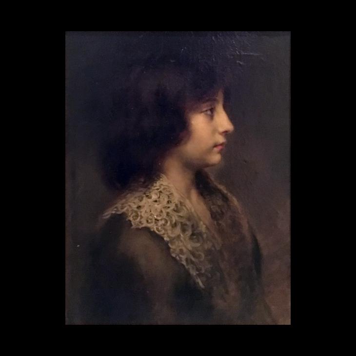 Juana Romani [1869-1924] Italian : Portrait of young boy, ca.1890.