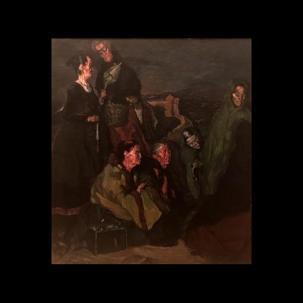 Ignacio Zuloaga y Zabaleta [1870-1945] Spanish : La brujas de San Millan [The witches of San Millan], 1895.