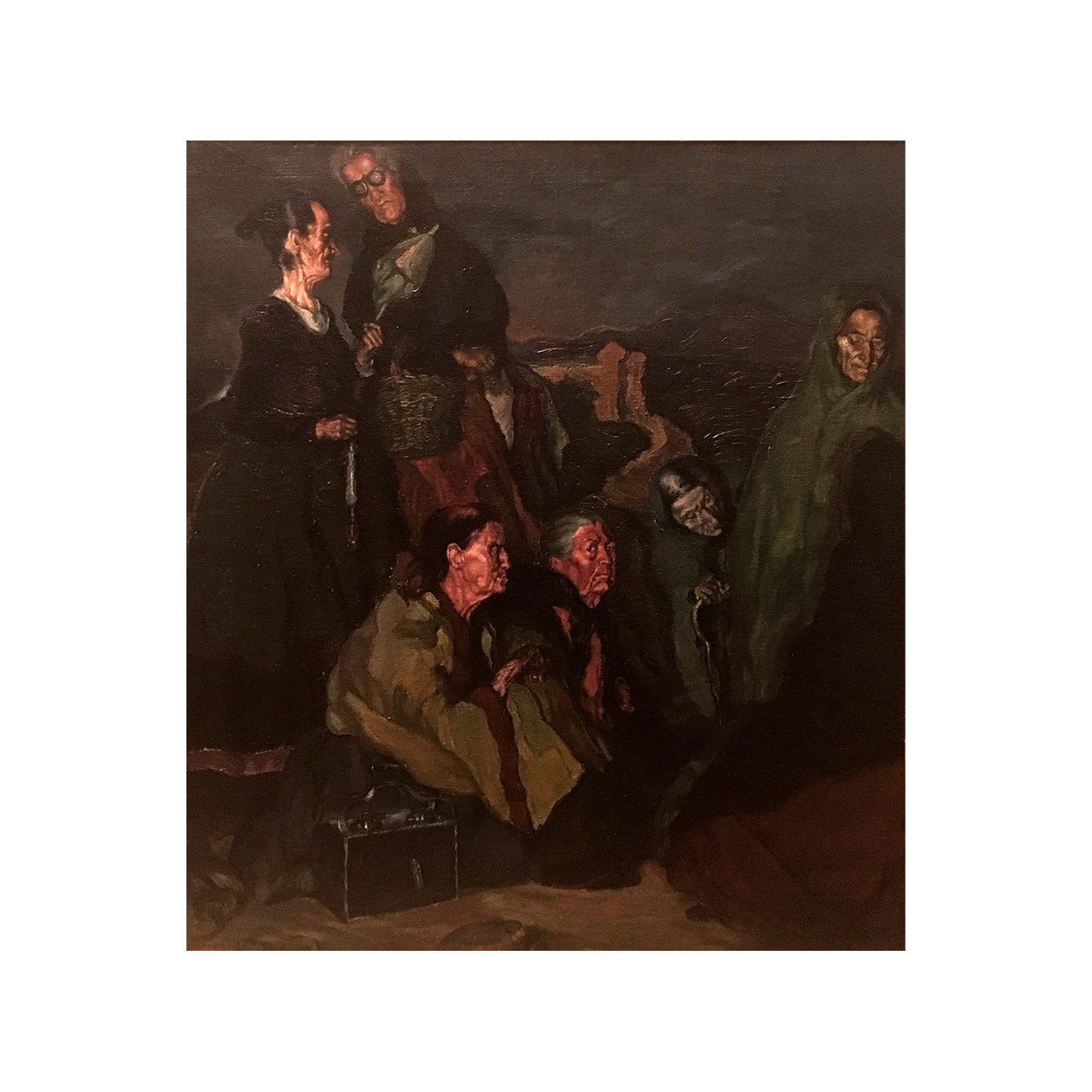Ignacio Zuloaga y Zabaleta [1870-1945] Spanish : La brujas de San Millan [The witches of San Millan], 1895.