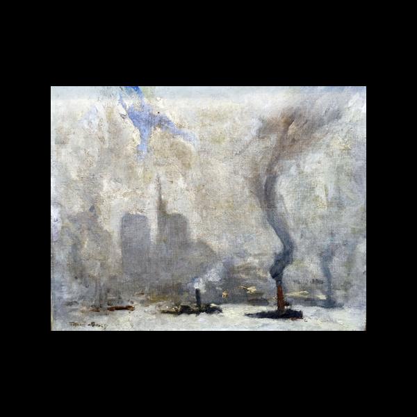Frank Myers Boggs [1885-1926] : New York harbor, ca.1900.